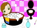 Coloring-mchezo-na-girl-little-katika-bathroom